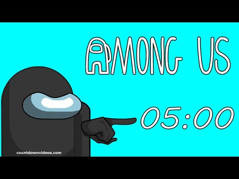 AMONG US 5 MINUTE TIMER with MUSIC