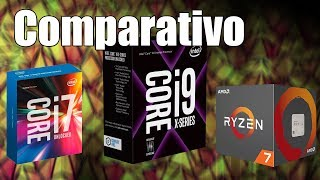 Intel Core i9-7900X vs Core i7-7700K vs AMD Ryzen 7 1800X em games!