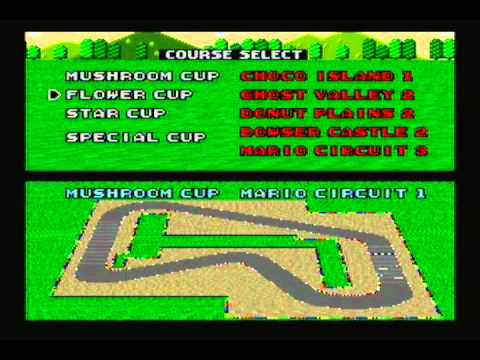 Super Mario Kart - Time Trials - Bowser