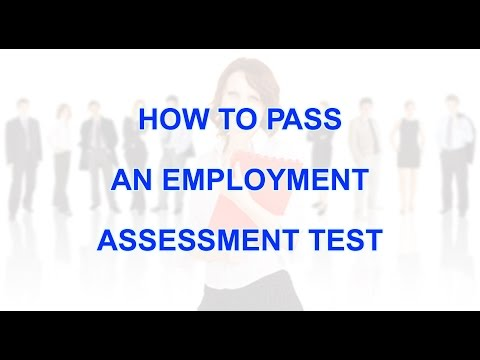 How to pass employment assessment test - YouTube