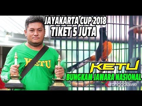JAYAKARTA CUP 2018 : Tiket 5 Juta, KETU Murai Batu Terbaik Musim Ini, Mutlak Juara Double Winner