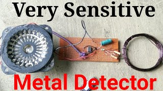 Make a Metal Detector Very Simple. Make Simplest High Sensitive Metal Detector at home with 555 ic.