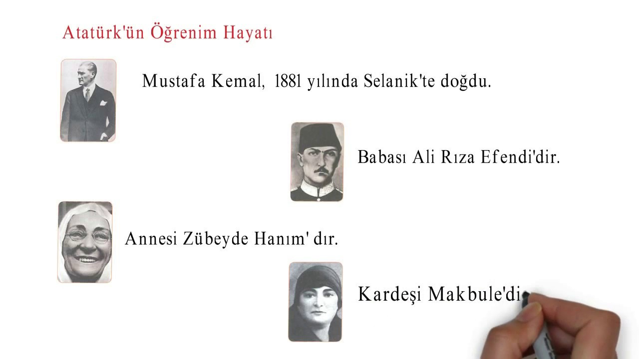 Ilkokul 4sınıf Sosyal Bilgiler Atatürkün Hayatı Youtube