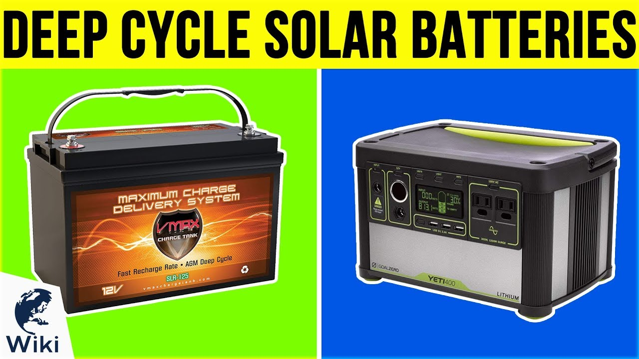 10 Best Deep Cycle Solar Batteries 2019