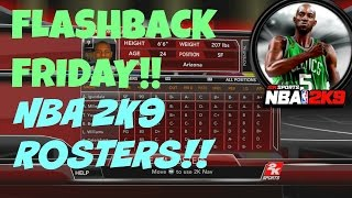 NBA 2K9 - Rosters and Overall Ratings (Flashback Friday)