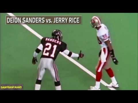 Deion Sanders vs Jerry Rice Summary   NFL Highlights HD
