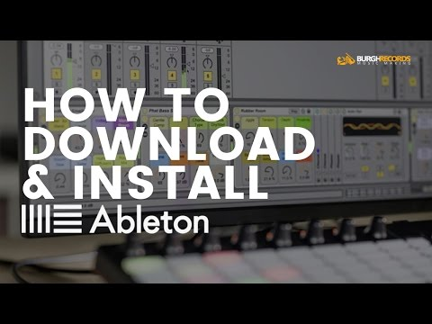 How To Download & Install Ableton Live 9 (Trial Version)