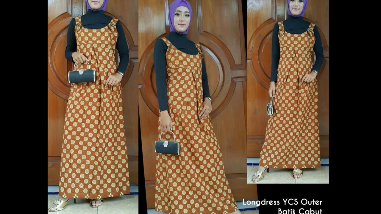 WA 10, Gamis Batik Muslim Remaja, Gamis Batik Muslim