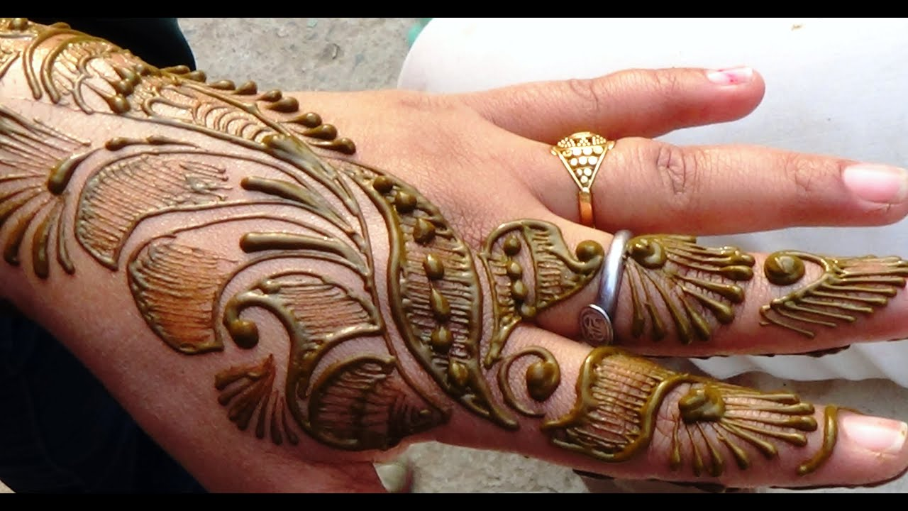 Mehndi Bridal Back Side : Time lapse easy beautiful henna mehendi mehndi design for upper
