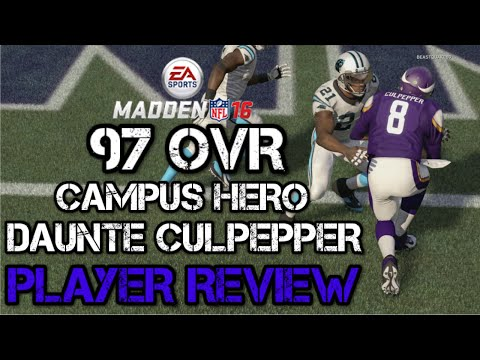 97 OVR Campus Hero Daunte Culpepper | Player Review | Madden 16 Ultimate Team Gameplay | MUT 16