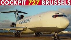 COCKPIT BOEING 727 Gothenburg to Brussels (1999)