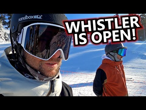 Whistler Mountain Is Open For Snowboarding!