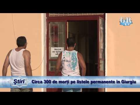 Circa 300 de morți pe listele permanente în Giurgiu