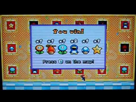 New Super Mario Bros Wii Perfect Power Up Panels Youtube