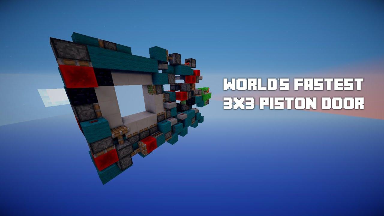 WORLD\u0027S FASTEST 3x3 Piston Door! w/KPkiller1671! (Opens in 0.15 seconds) - YouTube & WORLD\u0027S FASTEST 3x3 Piston Door! w/KPkiller1671! (Opens in 0.15 ... Pezcame.Com