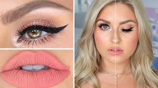 High End VS Drugstore Makeup! ♡ Full Face Dupes Makeup Tutorial