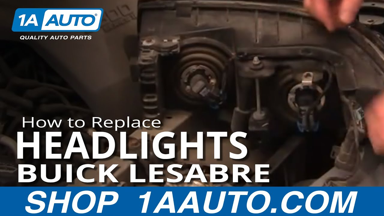 How To Replace Headlights 00 05 Buick Lesabre Youtube 1999 Regal Turn Signal Wiring Diagram