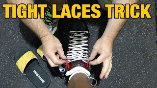 Quick trick to tie your hockey skate laces tighter - Reduce foot slippage