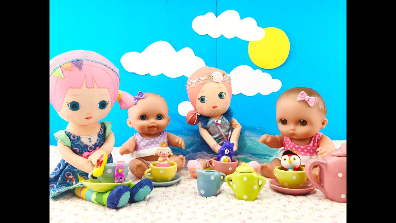 Twin Babies Baby Dolls Tea Party Doll & Surprise Blind Bags Shopkins ...
