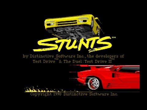 STUNTS: 4D Sports Driving (PC/DOS) 1990, Distinctive Software Inc.
