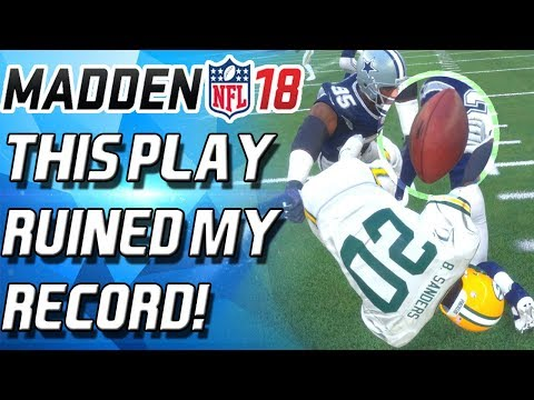 THIS PLAY RUINED MY PERFECT RECORD VS BARRY SANDERS! - Madden 18 Ultimate Team