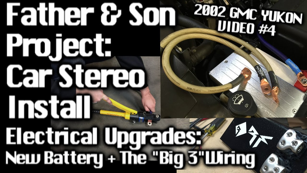 father son car audio install gmc yukon electrical upgrades big 3 wiring video 4 youtube [ 1920 x 1080 Pixel ]