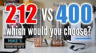 Deepcool Gammaxx 400 vs Cooler Master Hyper 212 LED Which To Choose?