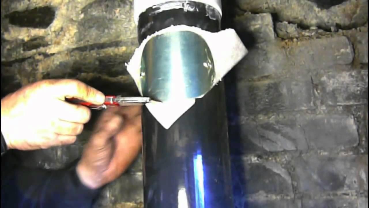 Chimney Sweeping A Boiler Flue  YouTube