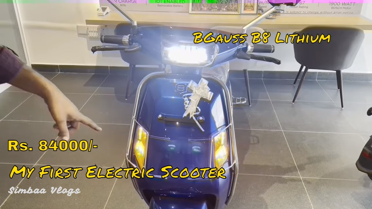 My First Electric Sccooter | BGauss B8 Lithium | Simbaa Vlogs