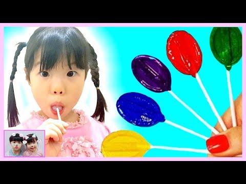 Kinderlieder Und Lernfarben & Baby Shark Jelly,Chocolate for Kids Children 상어가족 핑크퐁 젤리를 사왔어요!|Romiyu