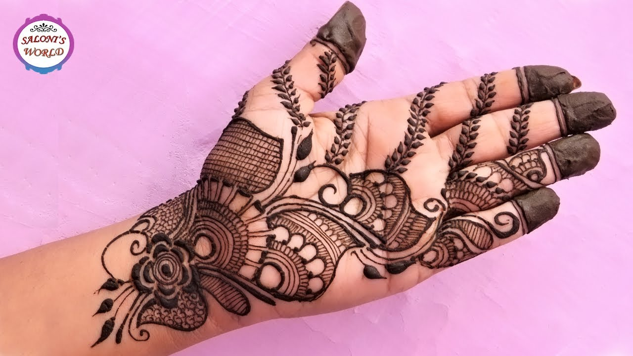 Mehndi Designs Roll : How to apply henna mehndi tattoo on hands arabic designs