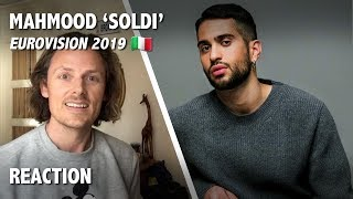 REACTION - Soldi, Mahmood - Eurovision 2019, Italy