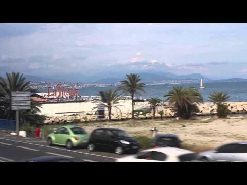 TGV train from Nice to Paris