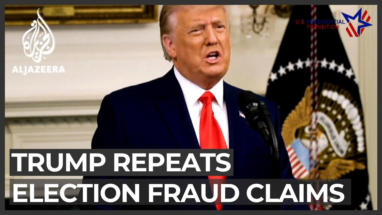 Trump releases video repeating debunked election fraud claims