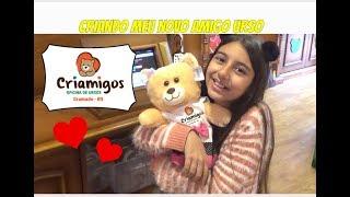 CRIANDO  MEU NOVO AMIGO URSO - CRIAMIGOS (  First Build A Bear ) - Julia Moraes