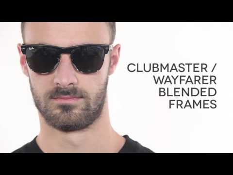 Ray Ban RB4175 Clubmaster Oversized Flash Lenses  Sunglasses Review | SmartBuyGlasses