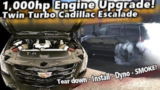 Armageddon Twin Turbo Cadillac Escalade - 1,000hp Engine Upgrade DYNO & SMOKE!