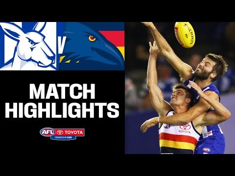Kangas and Crows in a tight battle | North Melbourne v Adelaide Highlights | Round 4, 2019 | AFL