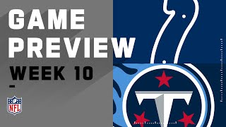 Indianapolis Colts vs. Tennessee Titans | NFL Week 10 Game Preview