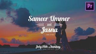 Advanced Wedding Title Preset | Free Premiere Pro Template