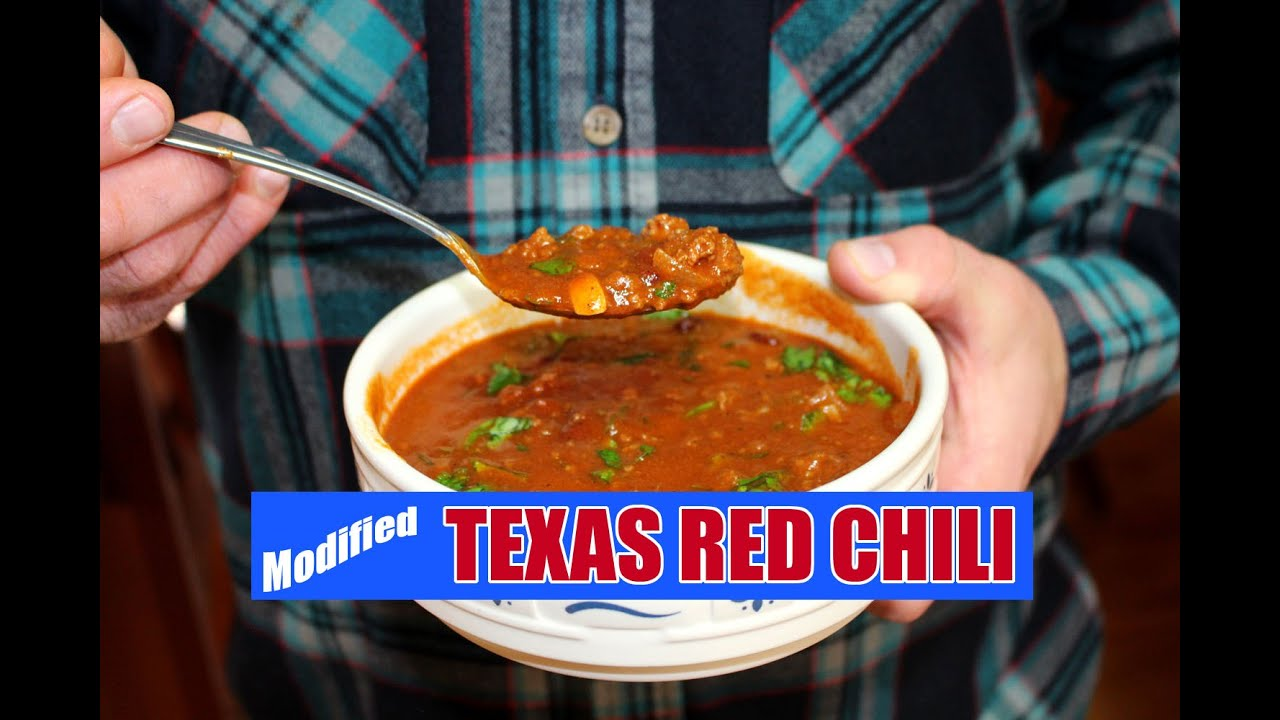 World S Best Texas Red Chili With Beans Youtube