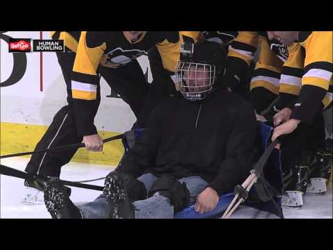 Charlie Batch is a Human Bowling ball at the Pittsburgh Penguins game