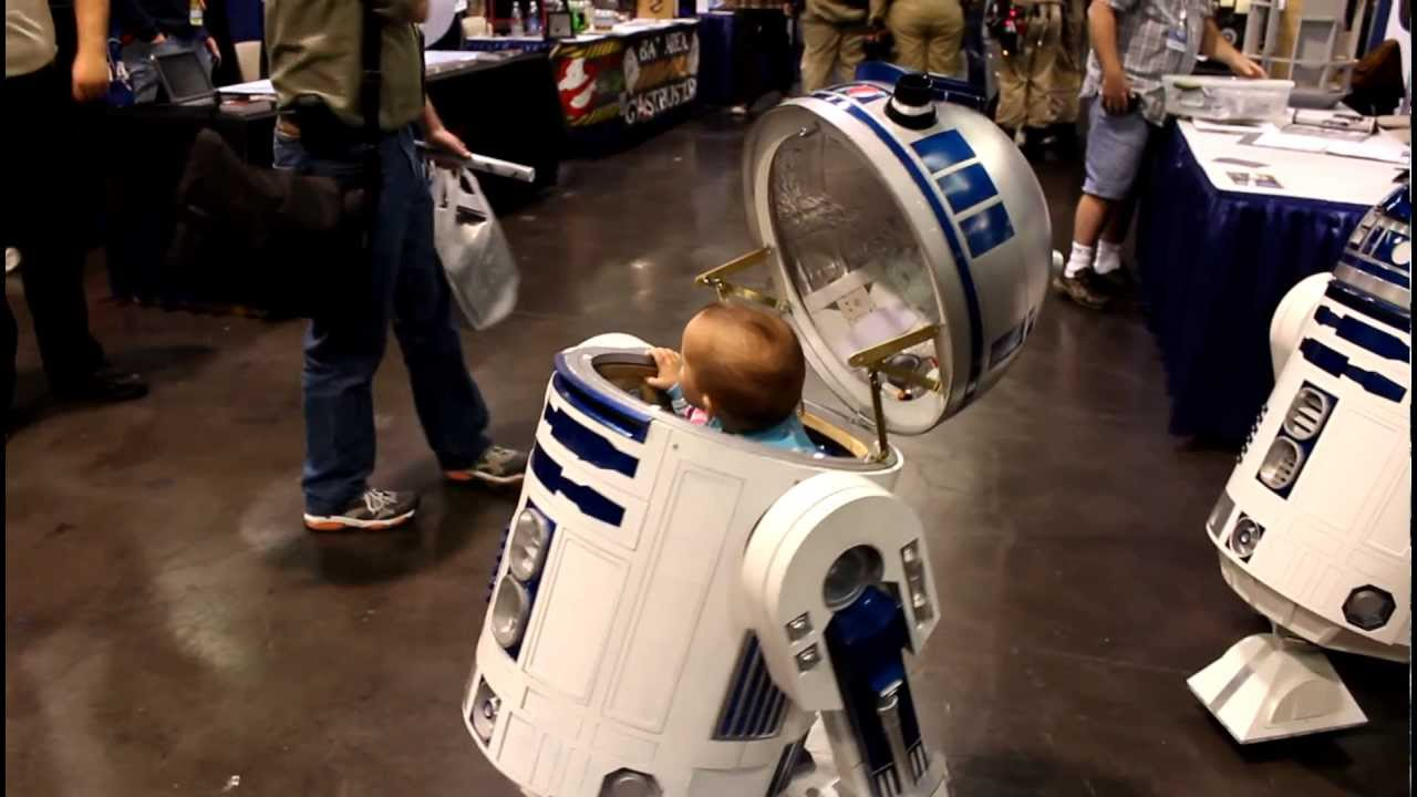 Baby In R2d2 Remote Control Stroller