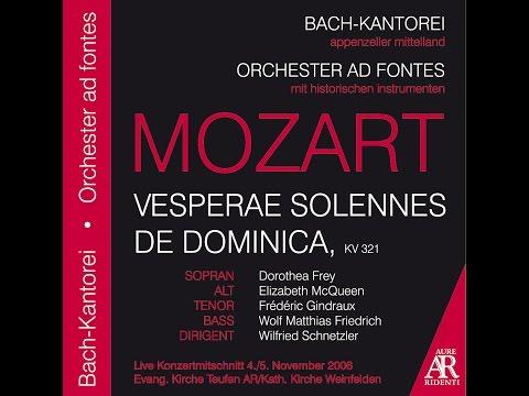 Wolfgang Amadeus Mozart: VESPERAE SOLENNES DE DOMINICA, KV 321
