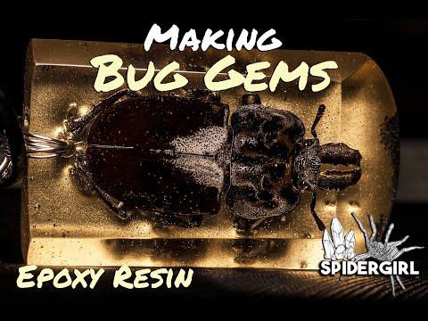 Casting Stag Beetle in Resin - DIY Pendant build