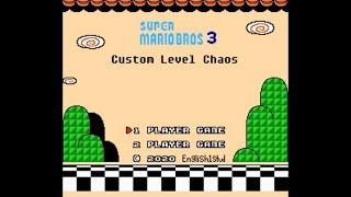 Super Mario Hack Longplay - Super Mario Bros 3 - Custom Level Chaos