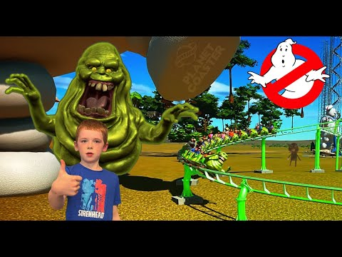 I make a Slimer Ride in Planet Coaster Ghostbusters! |