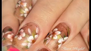 Vintage Flower Nails 2018 | Antique Newsprint with Floral Nail Art Design Tutorial