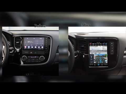 "Autochose Mitsubishi Outlander 10.4"" Tesla Style Vertical Touchscreen, GPS Navigation 13-17 Model"