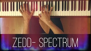 Spectrum (Zedd) [Intermediate Piano Tutorial]